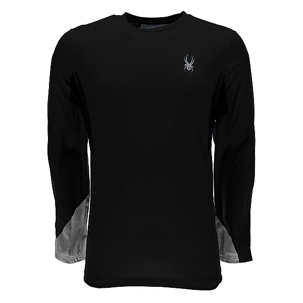 Spyder Alps L/S Tech Mens Shirt, Black-Cirrus Halftone Print, 600