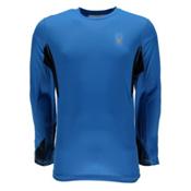 Spyder Alps L/S Tech Mens Shirt, French Blue-French Blue Halfto, medium