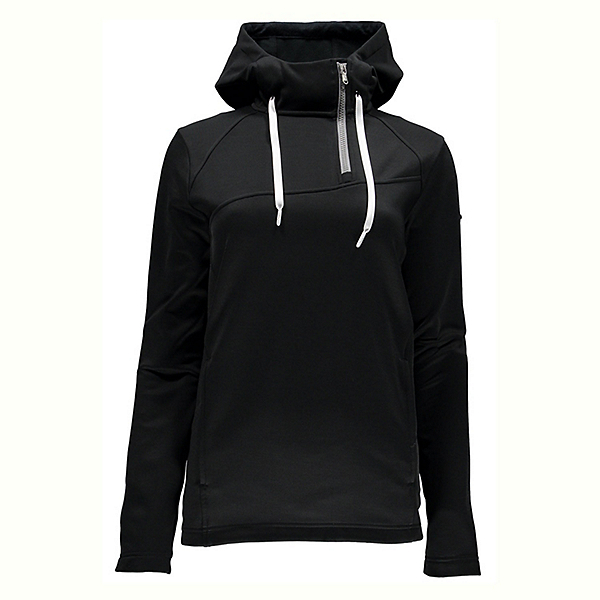 Spyder Myrge Fleece Womens Hoodie, Black-Image Grey, 600