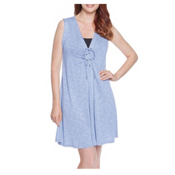Dotti Cabana Calling Dress Bathing Suit Cover Up, Blue, medium