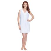 Dotti Sunny Stripe Dress Bathing Suit Cover Up, White, medium