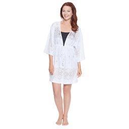 Dotti Gypsy Dance Kimono Tunic Bathing Suit Cover Up, White, 256