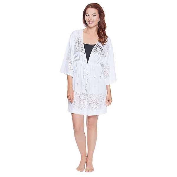 Dotti Gypsy Dance Kimono Tunic Bathing Suit Cover Up, , 600