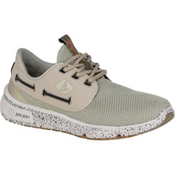 Sperry 7 Seas Camo Boat Mens Shoes, White Camo, medium