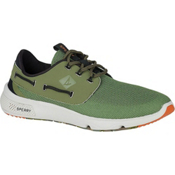 Sperry 7 Seas Camo Boat Mens Shoes, Olive Camo, medium