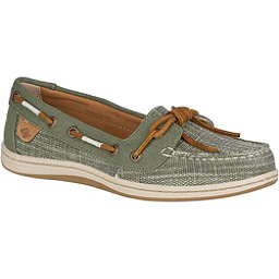 Sperry Barrelfish Heavy Linen Womens Shoes, Olive, 256