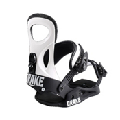 Drake King Snowboard Bindings 2017, White, medium