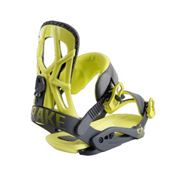 Drake Fifty Snowboard Bindings 2017, Grey-Lime, medium