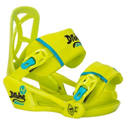 Drake LF Kids Snowboard Bindings, Lime, 256