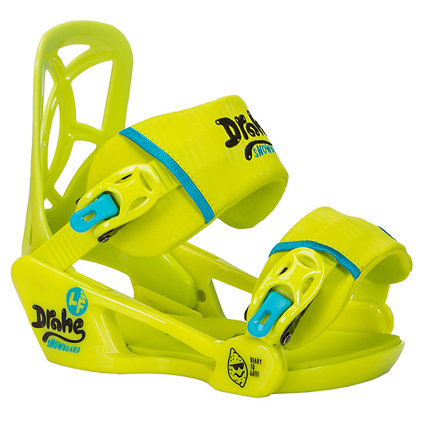 Drake LF Kids Snowboard Bindings, Lime, 600