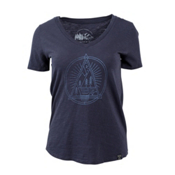 United By Blue Sun Mountain Womens T-Shirt, Navy, medium