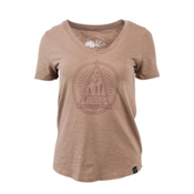 United By Blue Sun Mountain Womens T-Shirt, Tan, medium