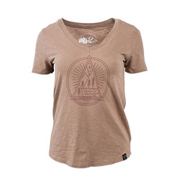 United By Blue Sun Mountain Womens T-Shirt, Tan, 256