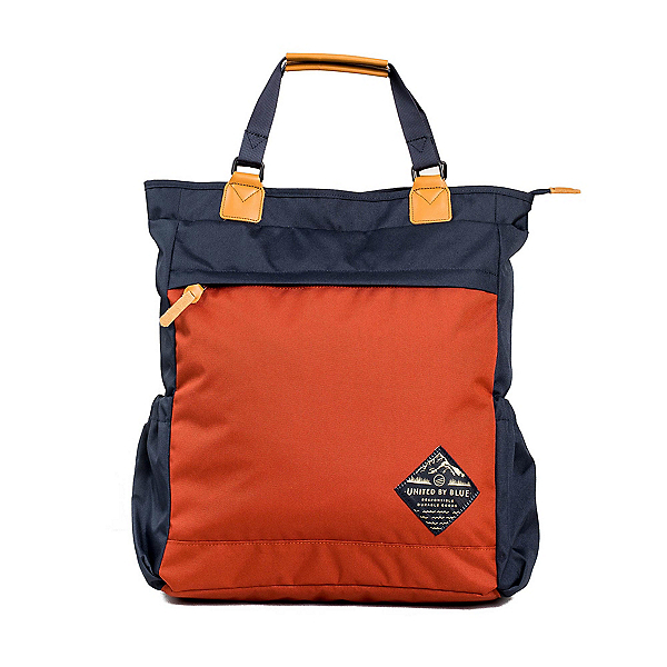 United By Blue Summit Convertible Tote, Navy-Rust, 600