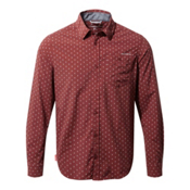 Craghoppers Nosilife Todd Long Sleeve Mens Shirt, Carmine Red Combo, medium