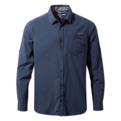 Craghoppers Nosilife Todd Long Sleeve Mens Shirt, Night Blue Combo, medium