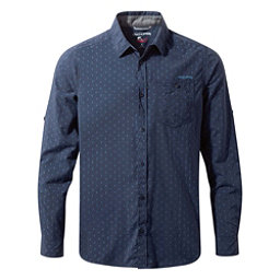 Craghoppers Nosilife Todd Long Sleeve Mens Shirt, Night Blue Combo, 256