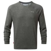 Craghoppers Nat Geo Nosilife Bayame Long Sleeve Mens Shirt, Black Pepper Marl, medium