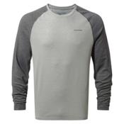 Craghoppers Nat Geo Nosilife Bayame Long Sleeve Mens Shirt, Black Pepper Marl-Soft Grey Ma, medium