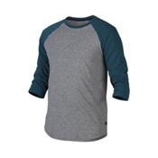 Oakley 3/4 Raglan Mens Shirt, Forest Green, medium