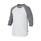 Oakley 3/4 Raglan Mens Shirt, White, medium
