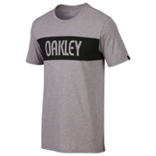 Oakley Tri-Oakley Bold Mens T-Shirt, Athletic Heather Grey, medium