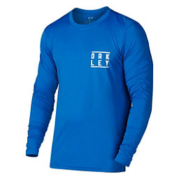 Oakley Long Sleeve Surf Tee Mens Rash Guard, Ozone, 256