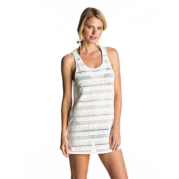 Roxy Crochet Easy Dress Bathing Suit Cover Up, Marshmellow, 600
