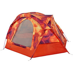 The North Face Homestead Domey 3 Tent 2017, Tibetan Orange Heat Map Print-, 256