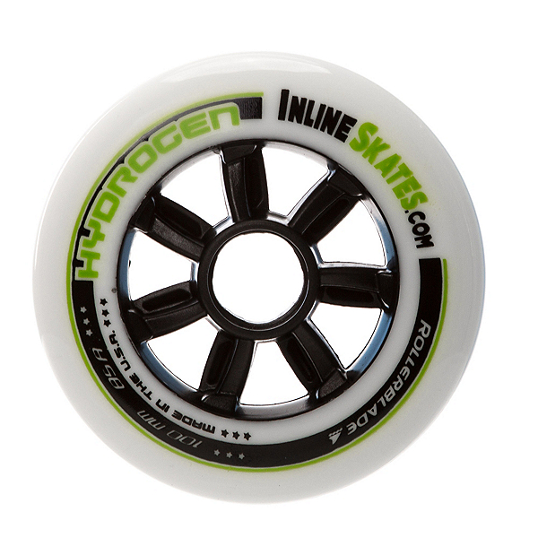 Rollerblade Hydrogen 100mm/85A Custom Inline Skate Wheels - 8 Pack Custom Inlineskates.com 2017, , 600