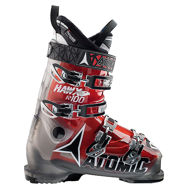 Atomic Hawx R 100 Ski Boots, Smoke-Transparent Red, 600