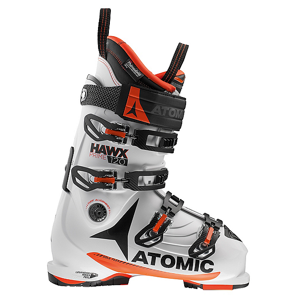 Atomic Hawx Prime 120 Ski Boots, White-Orange, 600