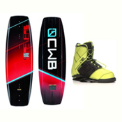 CWB Reverb Wakeboard With LTD Faction Bindings 2017, 131cm, medium