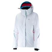 Salomon Brilliant Womens Insulated Ski Jacket, White, medium