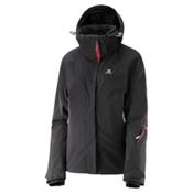 Salomon Brilliant Womens Insulated Ski Jacket, Black, medium