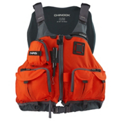 NRS Chinook Fishing Kayak Life Jacket 2017, Orange, medium