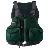 NRS Chinook Fishing Kayak Life Jacket 2017, Green, medium