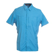 KUHL Wunderer Short Sleeve Mens Shirt, Ocean Blue, medium