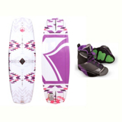 Liquid Force Jett Womens Wakeboard With Transit Bindings 2017, 132cm, medium