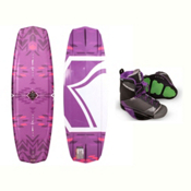 Liquid Force Jett Womens Wakeboard With Transit Bindings 2017, 136cm, medium