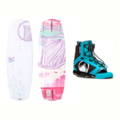 Liquid Force Angel Womens Wakeboard With Plush Bindings 2017, , medium