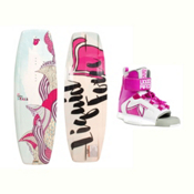 Liquid Force Dream Kids Wakeboard With Dream Bindings 2017, , medium