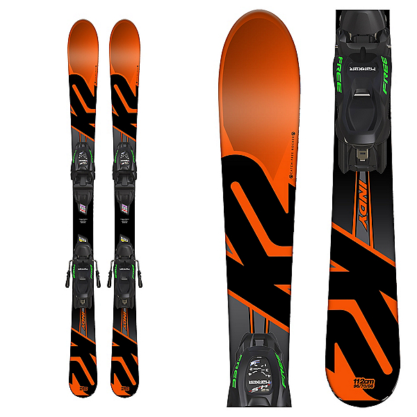 K2 Indy Kids Skis with FDT 4.5 Bindings 2018, , 600