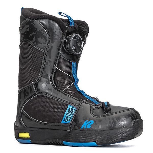 K2 Mini Turbo Kids Snowboard Boots 2018, Black, 600