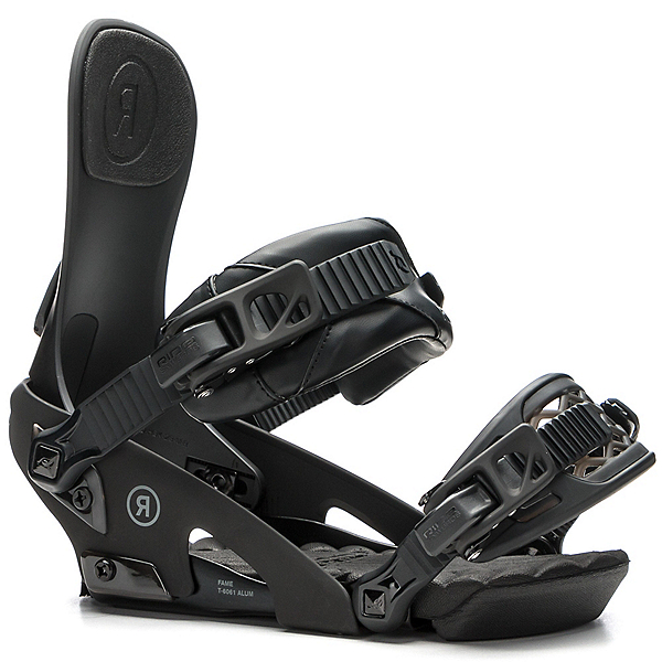 Ride Fame Womens Snowboard Bindings 2018, Black, 600