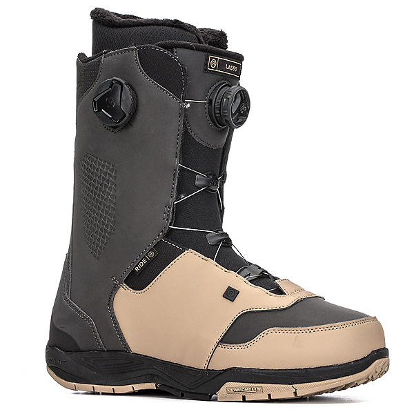 Ride Lasso Boa Coiler Snowboard Boots 2018, Black-Tan, 600