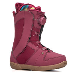 Ride Sage Boa Coiler Womens Snowboard Boots 2018, Maroon, 256
