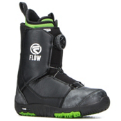 Flow Micron Boa Kids Snowboard Boots 2018, Black, medium