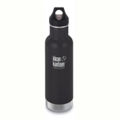 Klean Kanteen Insulated Classic 20oz Water Bottle 2017, Shale Black, medium