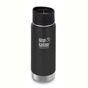 Klean Kanteen Insulated Wide 16oz Water Bottle 2017, Shale Black, medium